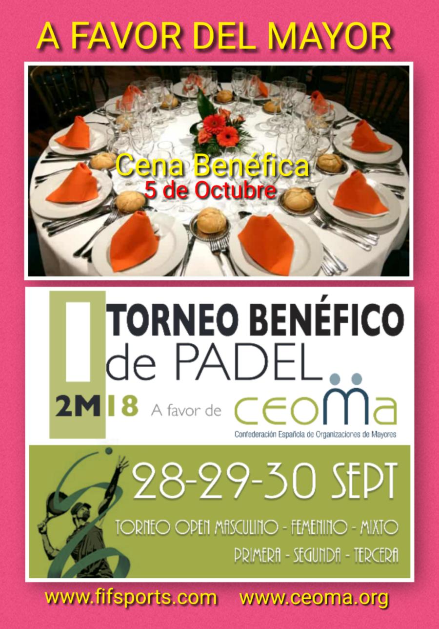 Participa en Septiembre en el gran Evento Benéfico a favor de las Personas Mayores organizado por FIF/fifsports/CEOMA