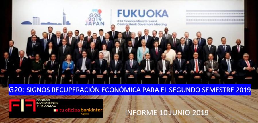 G20 FUKUOKA: Signos de recuperación para el 2º semestre 2019