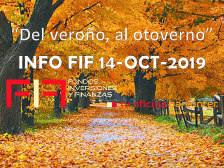 """FIF: """"Del veroño, al otoverno""""  lun 14 oct 2019"""