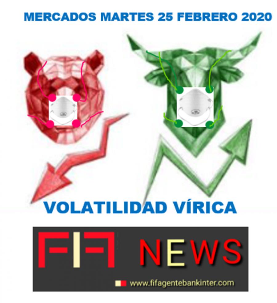 FIF NEWS 25-2-20: «Volatilidad vírica» «