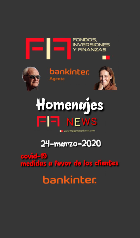 FIF NEWS 24 marzo 2020:               «Homenajes»