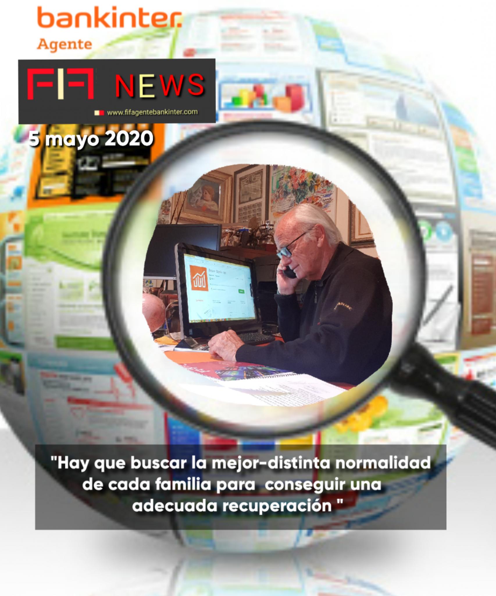 """FIF NEWS 5 mayo 20: """"Hay que buscar la mejor-distinta normalidad de cada familia para conseguir una adecuada recuperación"""""""