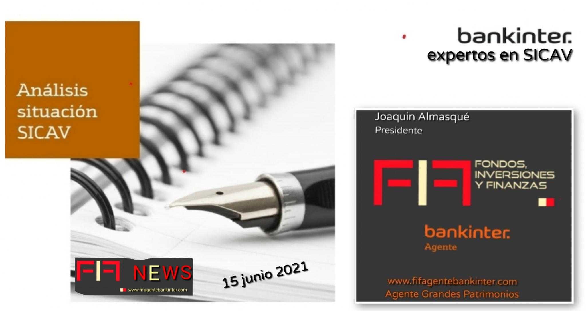 "FIFNEWS AGENTE BK 15.06.21: ""Las SICAV hoy"""
